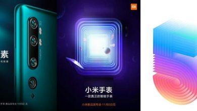 Photo of El 5 de noviembre Xiaomi presentará el CC9 Pro, Mi Watch Color, nuevo aires acondicionados y la nueva serie Mi TV 5