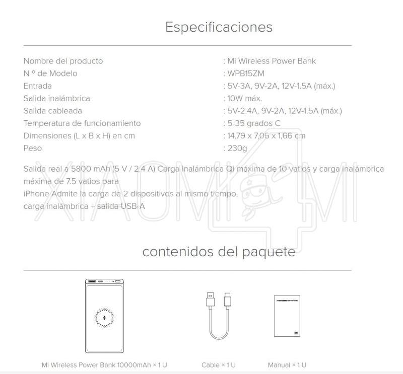 Xiaomi Mi Wireless Power Bank