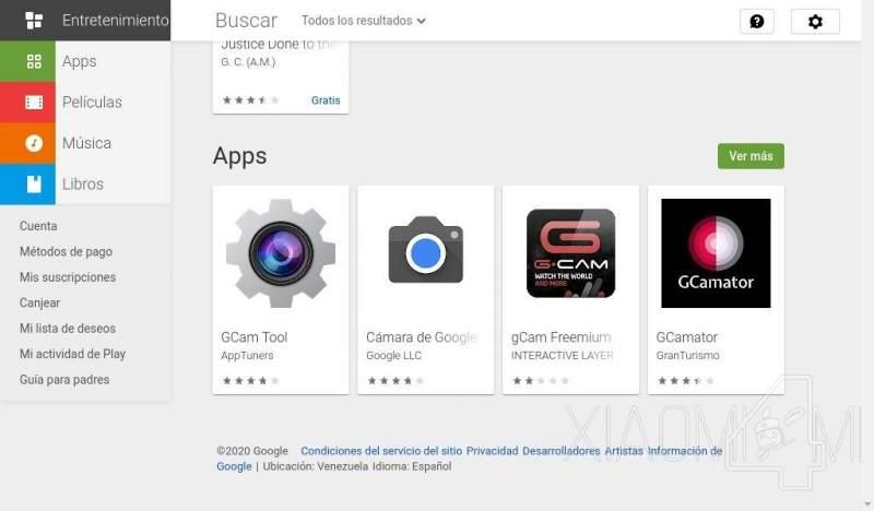 Apps que no se deben descargar ya que no son GCam