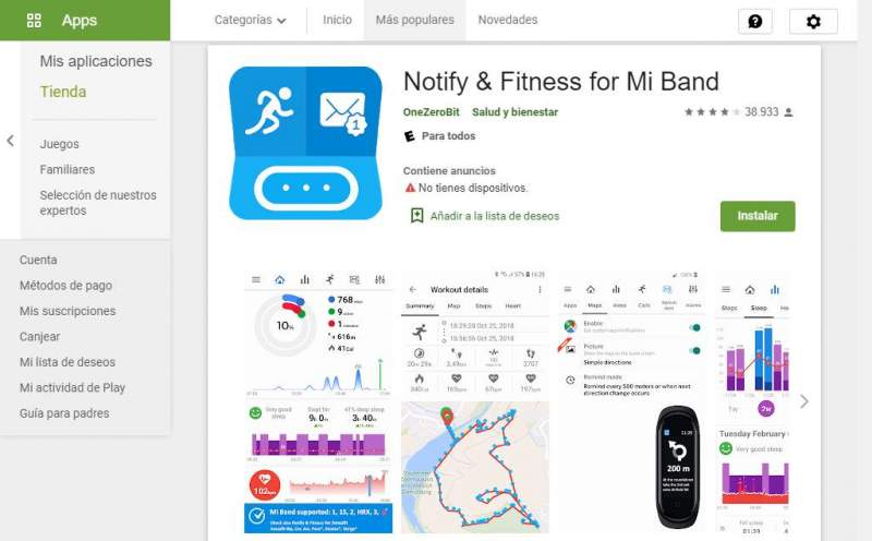 Notify y Fitness Xiaomi Mi Band