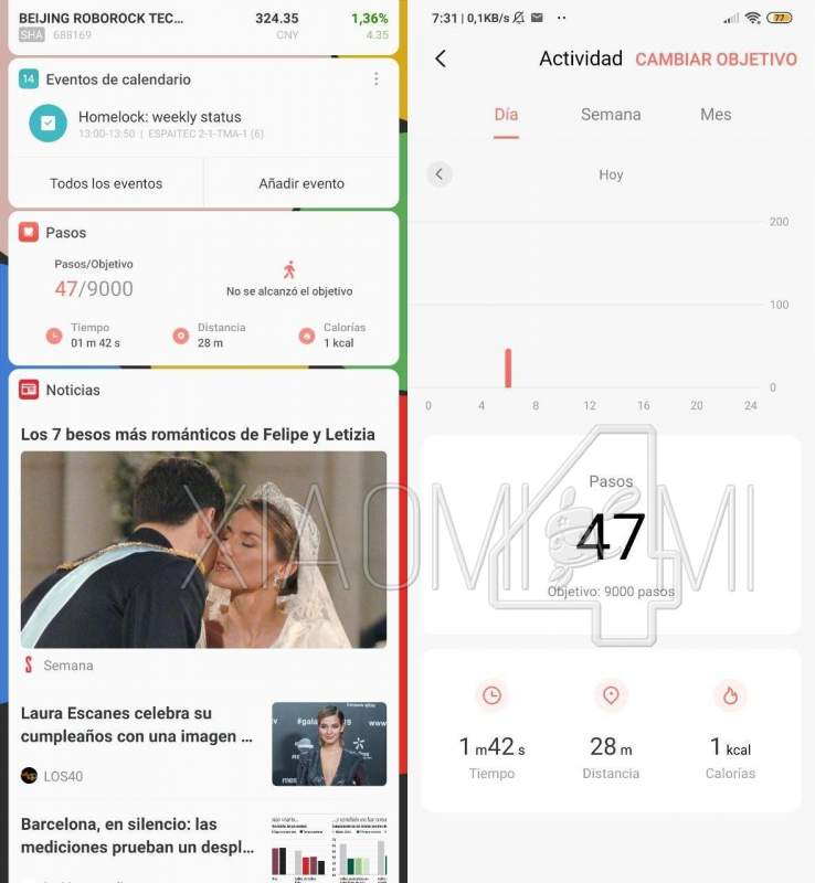 Pasos y Salud Xiaomi