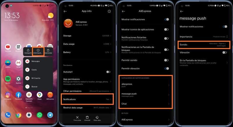 Personaliza los sonidos de notificación de las aplicaciones de Xiaomi