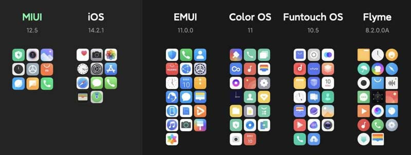 """miui-12.5-apps """"width ="""" 800 """"height ="""" 302 """"srcset ="""" https://xiaomi4mi.com/wp-content/uploads/2020/12/miui-12.5-apps.jpg 800w, https: // xiaomi4mi.com/wp-content/uploads/2020/12/miui-12.5-apps-300x113.jpg 300w, https://xiaomi4mi.com/wp-content/uploads/2020/12/miui-12.5-apps-768x290 .jpg 768w """"sizes ="""" (max-width: 800px) 100vw, 800px """"/> MIUI 12.5 essential applications vs other systems  <p></noscript>MIUI 12.5 also improves bloatware. They have listened to the Mi Fans and have allowed to uninstall pre-installed applications that arrive with the system itself, leaving only 9 essential applications that we cannot eliminate. Compared to iOS 11 or EMUI 19.</p> <h2>New animated wallpapers and notifications on MIUI</h2> <p>Xiaomi has added new animated wallpapers with images of some of the highest and best-known mountains in the world. These funds will be updated as the day progresses. But they will only be available on compatible devices (high-end models from the Mi 8 onwards).</p> </p> <p>In addition, Xiaomi has wanted to give a more original touch to its notifications by offering us a large repertoire of animal sounds such as birds or elephants to be used as a notification on our smartphone.</p> <h2>Animated icons</h2> <p>Xiaomi has always wanted to differentiate itself by the visual aspect of MIUI. In this new version 12.5, Xiaomi has added animated icons simulating fluids like the one you can see in the following image. It will be available for applications downloaded through GetApps on devices with Android 11 and that mount the Qualcomm Snapdragon 855 processor or higher.</p> <p><img class="""